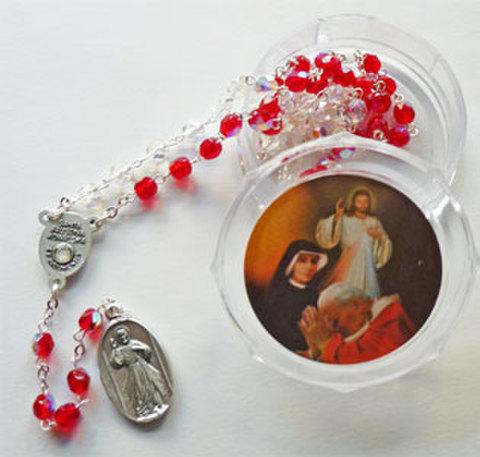 聖ファウスティナの聖遺物付きチャプレットA