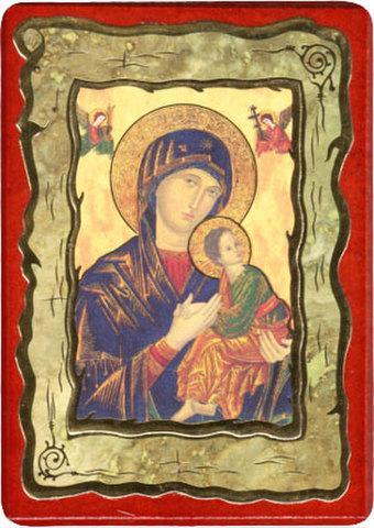 絶えざる御助けの聖母 卓上板絵
