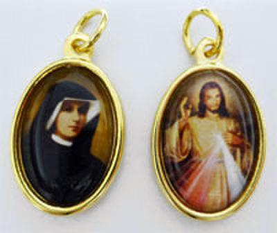 聖ファウスティナ・いつくしみのイエス 表裏メダイ