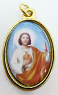 聖ユダの聖遺物付きメダイ