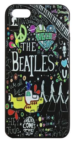【The Beatles】ザ・ビートルズ タイトルイラスト iPhone5/5s /SE シリコンカバー