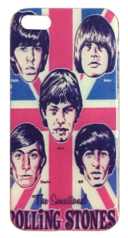 【The Rolling Stones】ザ・ローリング・ストーンズ キース「The Sensational」iPhone 5/5s/SE(第1世代) シリコンカバー ケース