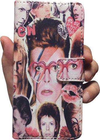 【David Bowie】デヴィット・ボウイ カレッジ iPhone7/ iPhone8カバー ケース ウォレットタイプ(手帳型)