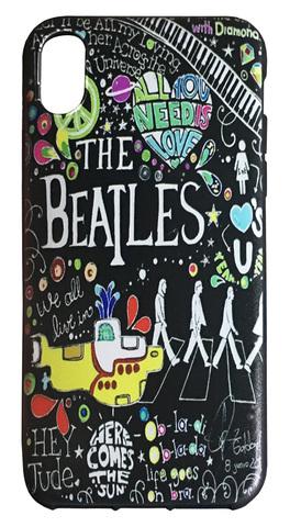 【The Beatles】ザ・ビートルズ「タイトルイラスト」iPhoneX/XS シリコンカバー TPUケース