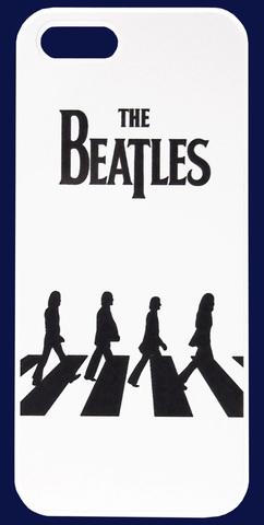 【The Beatles】ビートルズ アビーロード イラスト iPhone5/5s/SE カバー