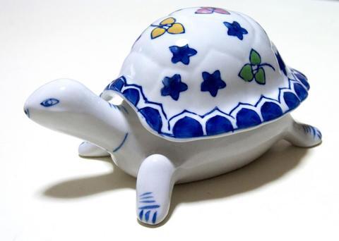 【Turtle Box】Bone China 亀のジュエリーボックス