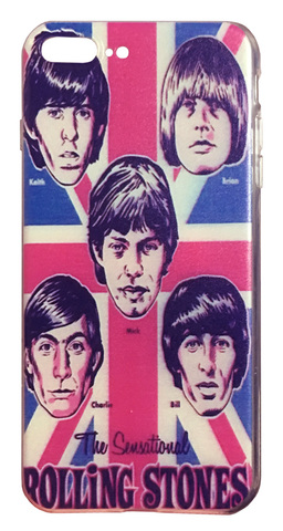 【The Rolling Stones】ザ・ローリング・ストーンズ「The Sensational」iPhone7Plus/ iPhone8Plus シリコンカバー ケース