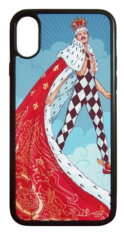 【Freddie Mercury/Queen】クィーン フレディ・マーキュリー「イラスト」iPhoneX/iPhoneXS ケース