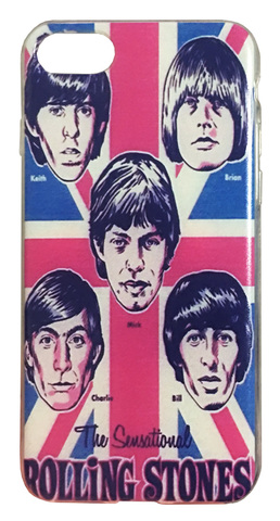 【The Rolling Stones】ザ・ローリング・ストーンズ キース「The Sensational」iPhone7/ iPhone8 シリコンカバー ケース