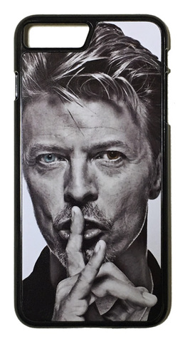 【David Bowie】デヴィット・ボウイ モノクロ ブルーアイ iPhone7Plus/ iPhone8 Plus ハードケース