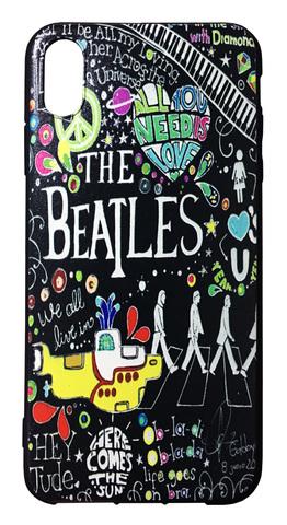 【The Beatles】ザ・ビートルズ「タイトルイラスト」iPhoneXS Max シリコン TPUケース