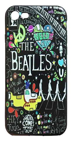 【The Beatles】ザ・ビートルズ「タイトルイラスト」iPhone7/iPhone8 シリコン TPU ケース
