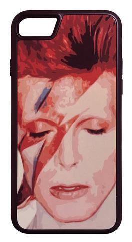 【David Bowie/Aladdin Sane】デヴィット・ボウイ アラジン・セイン iPhone7/ iPhone8 ハードカバー