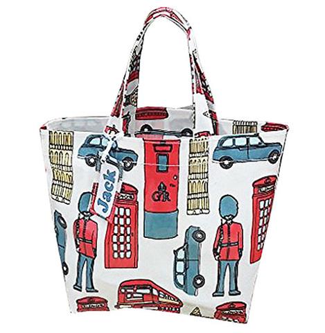 【London lamination Mini Tote Bag】ロンドン ラミネート ランチ ミニトートバッグ(S)
