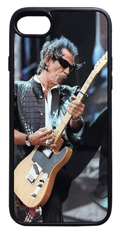 【The Rolling Stones/Keith Richards】ザ・ローリング・ストーンズ キース・リチャーズ 「ライブ」iPhone7/ iPhone8ケース