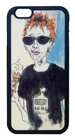【Radiohead/Thom Yorke】レディオヘッド/トム・ヨーク アイスクリーム イラスト iPhone6/6s ハードカバー
