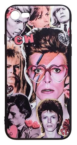 【David Bowie】デヴィット・ボウイ「カレッジ」 iPhone7/ iPhone8 シリコン TPUカバー ケース