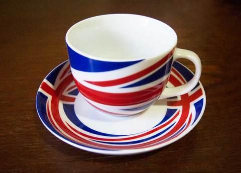 【Ethos Cool Britannia】ユニオンジャック カップ&ソーサー