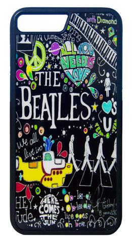 【The Beatles】ザ・ビートルズ タイトルイラスト iPhone7Plus/ iPhone8Plus ハードカバー