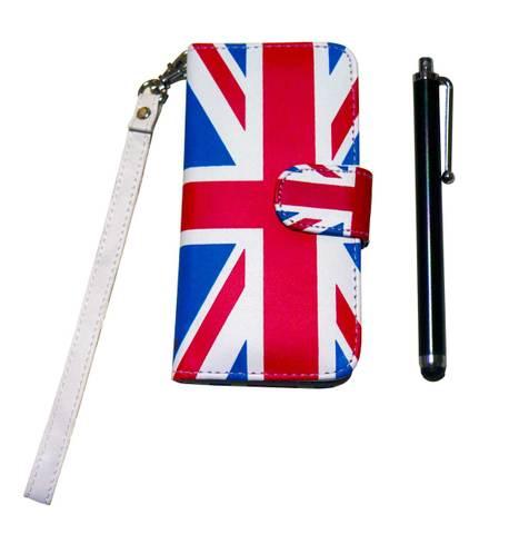 【Union Jack】ユニオンジャック レザー マグネト・フリップ iPhone5/5s/SEケース 手帳型(タッチペン付き)