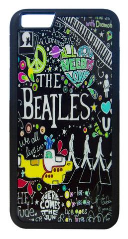 【The Beatles】ザ・ビートルズ タイトルイラスト iPhone6/ iPhone6s ハードカバー