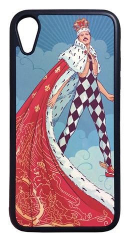 【Freddie Mercury/Queen】クィーン フレディ・マーキュリー「イラスト」iPhoneXR ハードカバー ケース