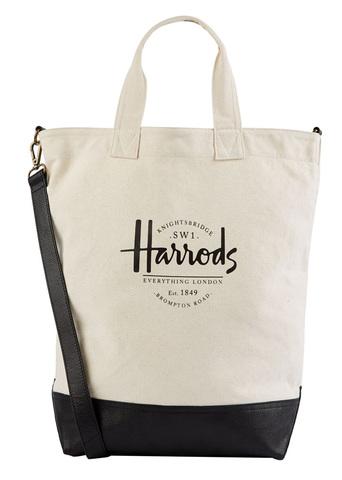 英国直輸入【Harrods Stepney Headquarters Tote Bag】ハロッズ ステップニー 帆布トートバッグ