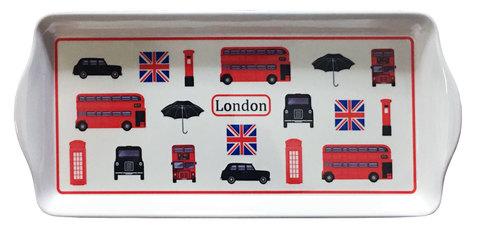 【London Icon Tray】 ロンドンアイコン サンドウィッチ&スナックトレー(M)