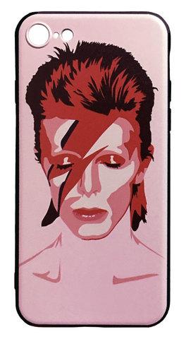 【David Bowie】デヴィット・ボウイ「Aladdin Sane」iPhone7/ iPhone8/iPhoneSE(第2世代)シリコン TPUケース