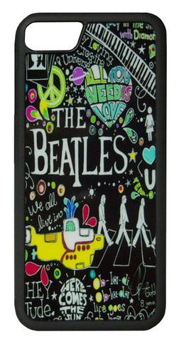 【The Beatles】ザ・ビートルズ タイトルイラスト iPhone7/ iPhone8 ハードカバー