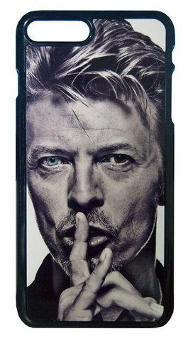 【David Bowie】デヴィット・ボウイ モノクロ ブルーアイ iPhone7Plus/ iPhone8 Plus ハードカバー