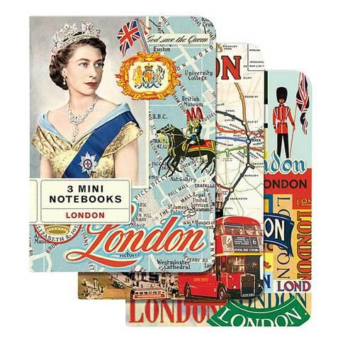 【London Mini Notebook】ロンドン ミニ ノートブック3冊セット