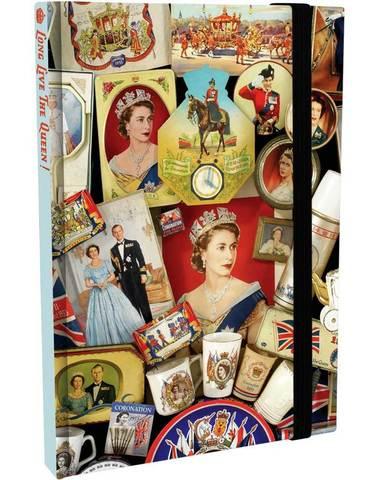 【Royal Queen Elizabeth II】 クィーン エリザベス2世 ジュビリー ノートブック A6