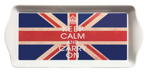 【Union Jack Tray】「Keep Calm And Carry On」ユニオンジャック サンドウィッチ&スナックトレー(M)