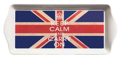 【Union Jack Tray】「Keep Calm And Carry On」ユニオンジャック サンドウィッチ&スナックトレー(M)