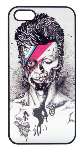 【David Bowie】デヴィット・ボウイ モノクロイラスト iPhone5/5s/SE ハードケース