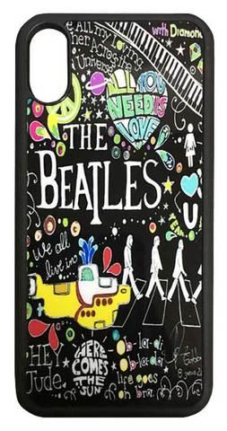 【The Beatles】ザ・ビートルズ タイトルイラスト iPhoneX ハードカバー
