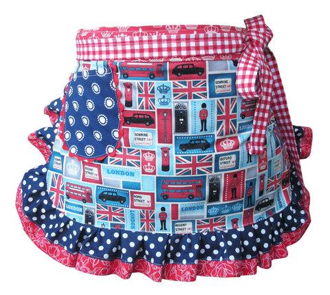【London Fabric Apron】英国生地 ロンドンエプロン