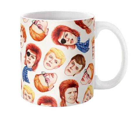 【David Bowie】デヴィット・ボウイ「Fabulous Bowie」イラスト マグカップ