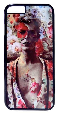 【David Bowie】デヴィット・ボウイ フラワー iPhone6/ iPhone6s ハードカバー