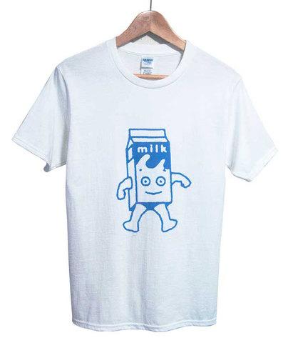 【Blur Milk Boy】ブラー 「コーヒー&TV ミルクボーイ Tシャツ(S/M/L・ホワイト)