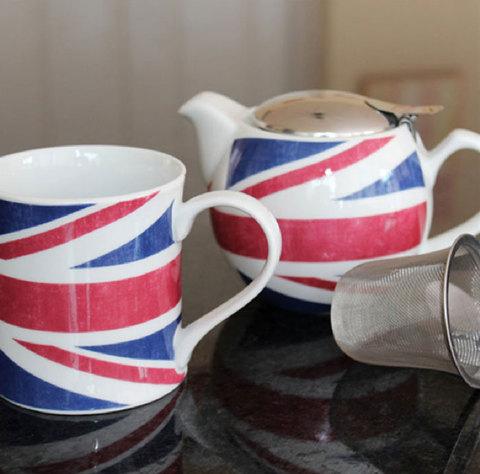【Rosanna English Tea】ユニオンジャック ティーポット&マグカップ セット