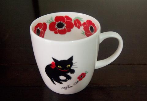 【Manami Nakada Ribon Cat】アネモネ・リボンキャット マグカップ
