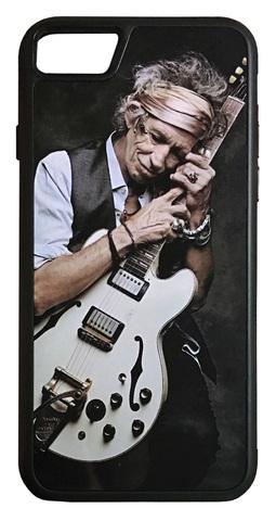 【The Rolling Stones / Keith Richards】ザ・ローリング・ストーンズ キース・リチャーズ ギター iPhone7/ iPhone8 ハードカバー