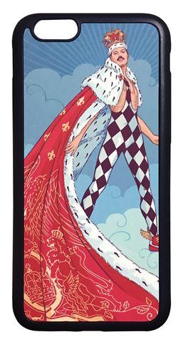 【Queen/Freddie Mercury】クィーン フレディ・マーキュリー「イラスト」iPhone6/ iPhone6s ケース