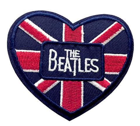 【The Beatles/Union Jack】ビートルズ ユニオンジャック ハート型 ワッペン