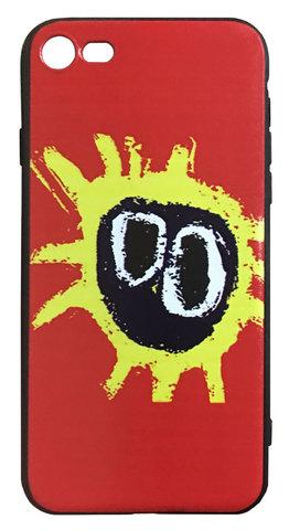 【Primal Scream】プライマル・スクリーム「スクリーマデリカ」iPhone7/iPhone8/iPhoneSE(第2世代)シリコン TPUケース レッド (サイド:黒)⭐️全国送料無料