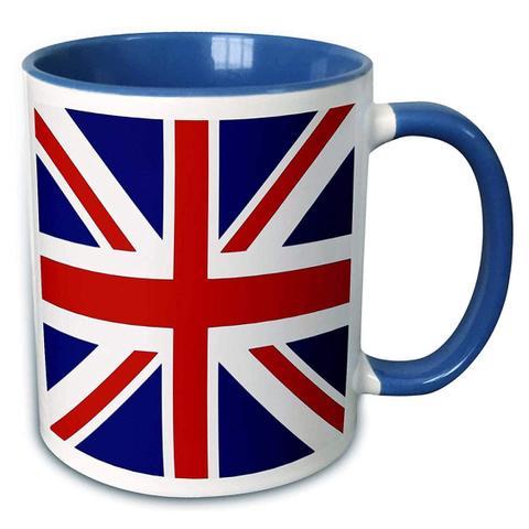 【3dRose Union Jack Mug】3dRose ユニオンジャック ツートーンブルー マグカップ