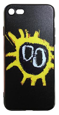 【Primal Scream】プライマル・スクリーム スクリーマデリカ iPhone7/ iPhone8 / iPhoneSE(第2世代)シリコン TPUケース ブラック(サイド:透明)
