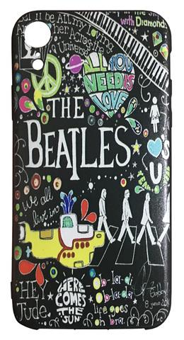 【The Beatles】ザ・ビートルズ タイトルイラスト iPhoneXR シリコンカバー TPUケース